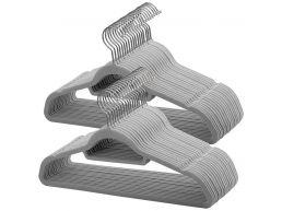 Antislip kledinghangers - plooibaar - roterende haak - 50 stuks - grijs
