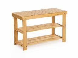Schoenenrek - met zitbank - 70x45x28 cm - bamboe