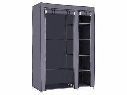 XL kleerkast - opvouwbaar - stof - 110x175x45 cm - grijs