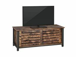 Tv-meubel - met 2 schuifdeuren - 110x45x40 cm - vintage bruin