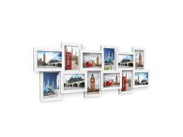 Multi fotokader - voor 12 foto's van 10x15 cm - wit