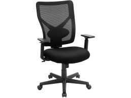 Bureaustoel - verstelbare arm-en rugleuning - zwart