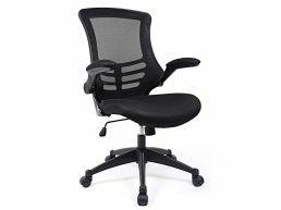 Bureaustoel - opvouwbare armleuningen - 360° draaibaar - zwart