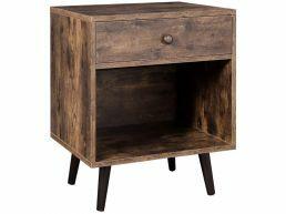 Nachtkastje - met lade en open vak - 50x58x40 cm - vintage bruin