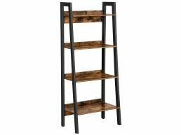 Boekenkast - industriële look - 4 niveaus - 56x137.5x34 cm - vintage bruin