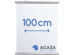 Arti Teq - poster ophangsysteem - poster snap - 100 cm - zilvergrijs