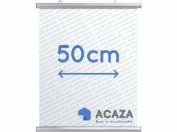 Arti Teq - poster ophangsysteem - poster snap - 50 cm - zilvergrijs