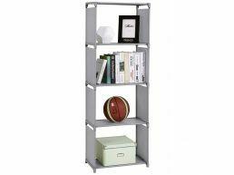 Tweedekans - Boekenkast - 4 vakken - 50x147x30 cm - grijs