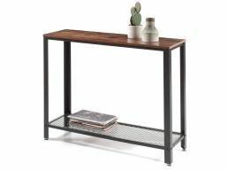 Tweedekans - Hoge consoletafel - industriële look - 101,5x80x35 cm - vintage bruin