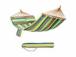 Hangmat - 2 kussens - 210x150 cm -  multi kleuren