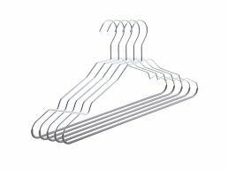 Metalen kledinghangers - antislip - 30 stuks - zilvergrijs