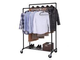 Mobiel kledingrek - 2 rails - zwart