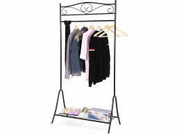 Stijlvol kledingrek – 1 rail - zwart