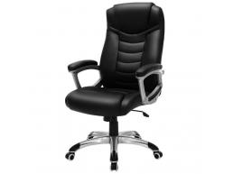 Luxe design manager bureaustoel - kunstleer - zware belasting - zwart
