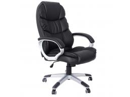 Luxe design bureaustoel - dikke bekleding - zwart