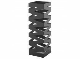 Metalen paraplubak - met waterbakje - trendy design - zwart