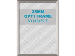 Klikkader Opti - 25 mm - A3 - zilvergrijs