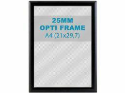 Klikkader Opti - 25 mm - A4 - zwart