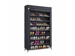 Schoenenrek - extra groot - 10 niveaus - tot 54 paar schoenen - 100x162x28 cm - zwart