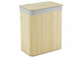 Wasmand - 2 vakken - 100 liter - 52x63x32 cm - bamboe