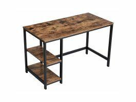 Bureau - stevig - vintage look - 120x75x60 cm - bruin/zwart