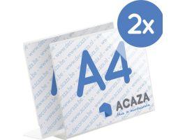 L-Display - horizontaal fotokader - acryl - A4 21x29.7 cm - set van 2