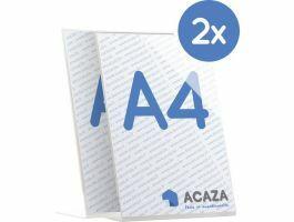 L-Display - verticaal fotokader - acryl - A4 21x29.7 cm - set van 2