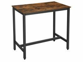 Hoge bartafel - 120x105x60 cm - vintage bruin/zwart