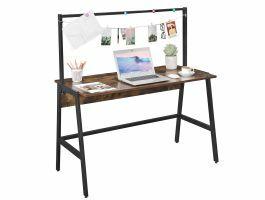 Bureau vintage - 120 cm - met stang - zwart/vintage bruin