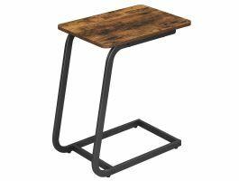Bijzettafel - zonder wielen - schuine vorm - 50x62x35 cm - vintage bruin