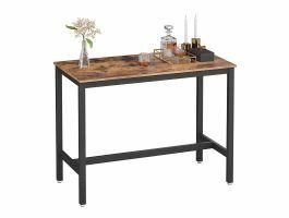 Middelhoge bartafel - vintage - 120x90x60 cm - bruin/zwart