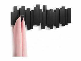Umbra Sticks - wandkapstok - 5 haken - 49x18x3 cm - zwart