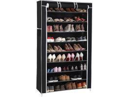 Schoenenrek - 40 paar schoenen - 88x160x28 cm - zwart/wit