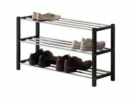 Schoenenrek - moderne look - 80x45x28 cm - zwart