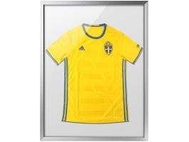 Kader voor t-shirt collectie - diepe lijst van 60x80 cm - zilver/grijs